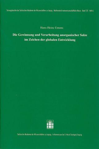 Cover für 'Die Gewinnung und Verarbeitung anorganischer Salze im Zeichen der globalen Entwicklung'