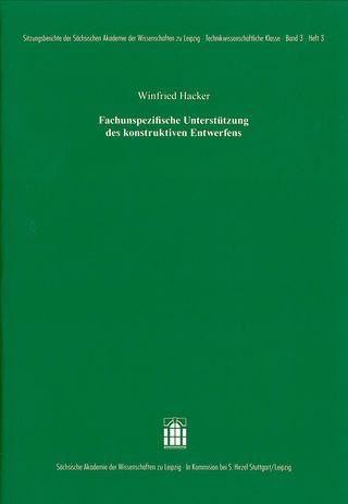 Cover für 'Fachunspezifische Unterstützung des konstruktiven Entwerfens'