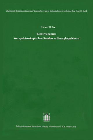 Cover für 'Elektrochemie: Von spektroskopischen Sonden zu Energiespeichern'