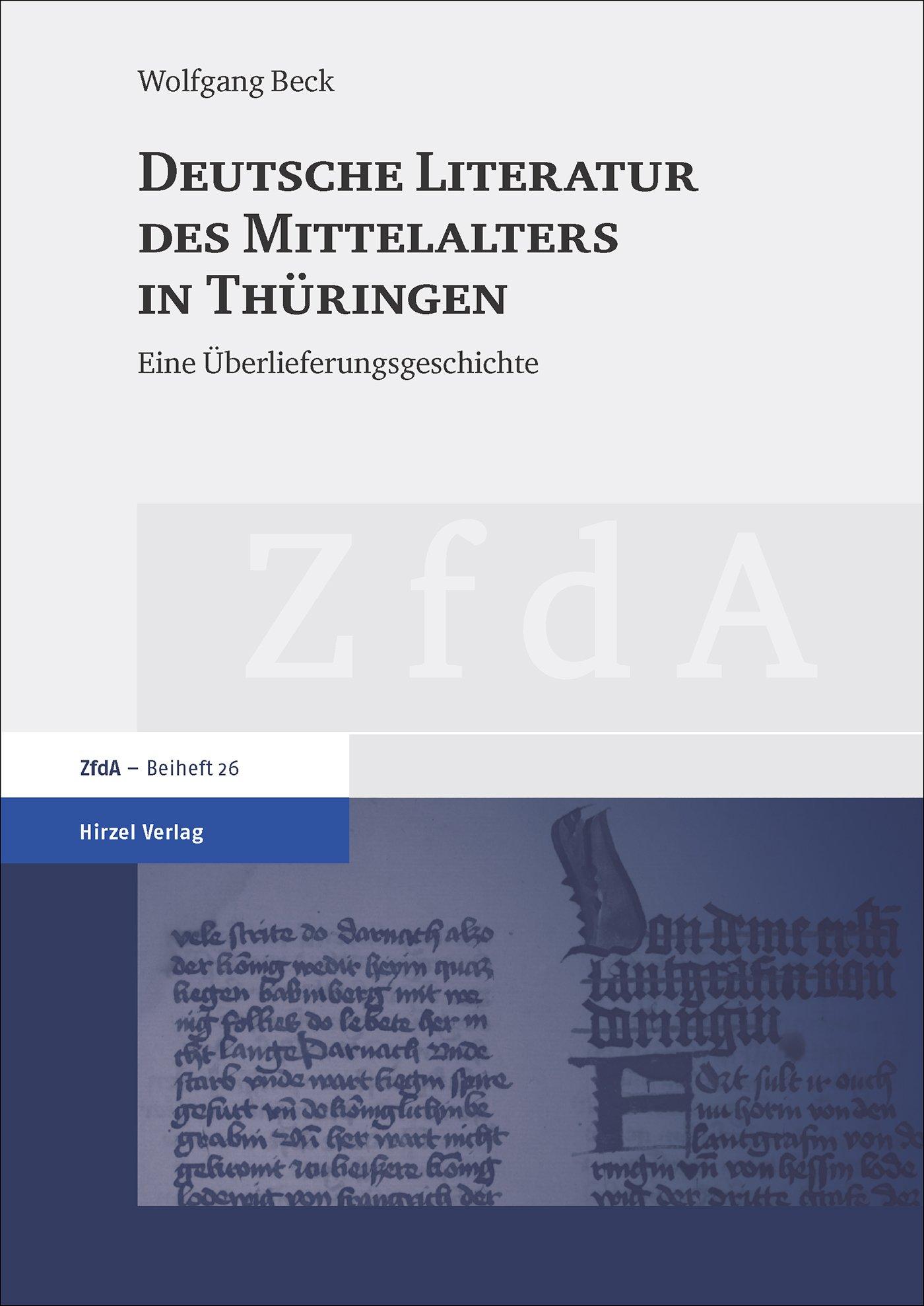 Cover für 'Deutsche Literatur des Mittelalters in Thüringen'