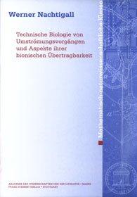 Cover für 'Technische Biologie von Umströmungsvorgängen und Aspekte ihrer bionischen Übertragbarkeit'
