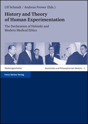 Cover für 'History and Theory of Human Experimentation'