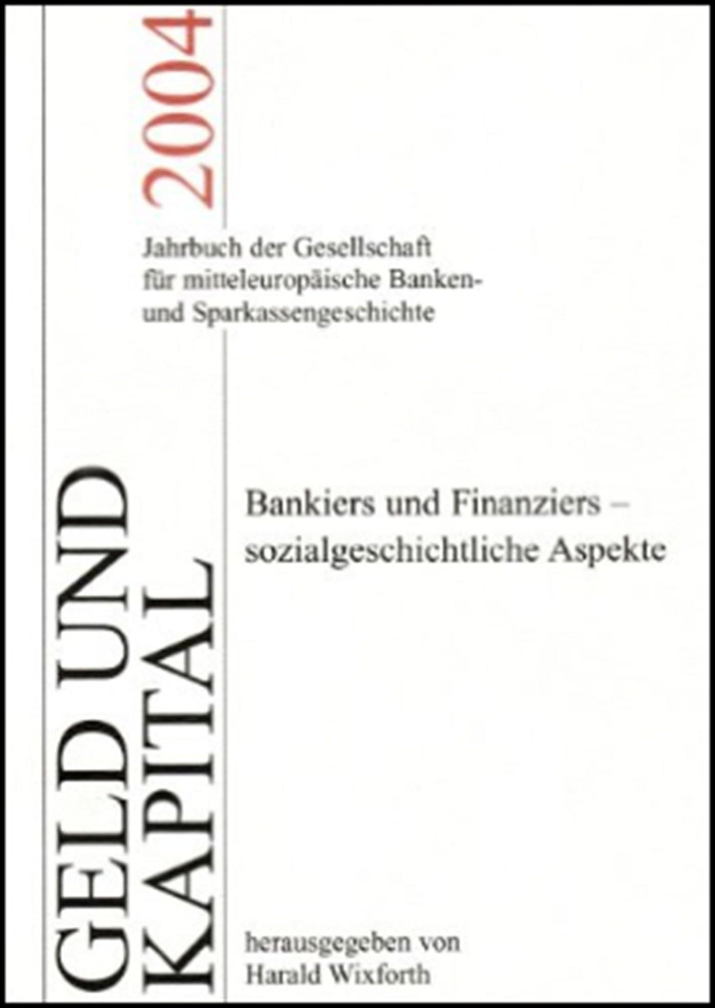 Cover für 'Geld und Kapital 8 (2004)'