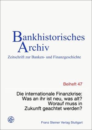 Cover für 'Die internationale Finanzkrise'