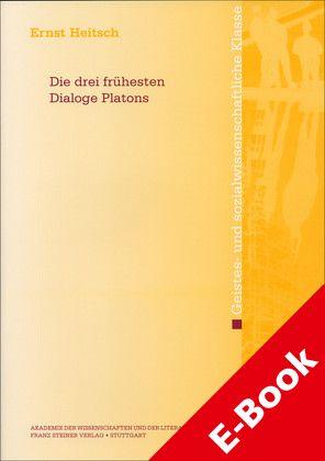 Cover für 'Die drei frühesten Dialoge Platons'