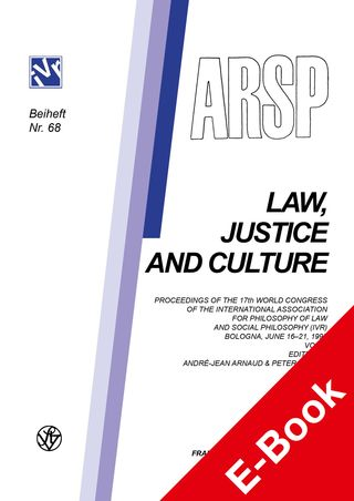 Cover für 'Challenges to Law at the End of the 20th Century: Law, Justice and Culture. '