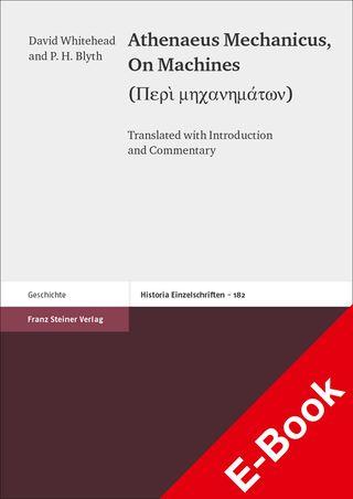 Cover für 'Athenaeus Mechanicus: On Machines (Peri mechanematon)'